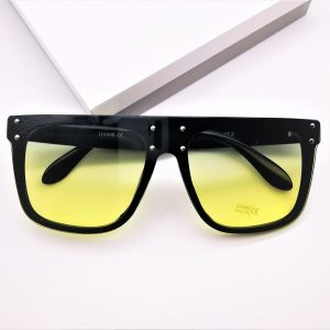 Flat Top Yellow Tinted Sunglasses
