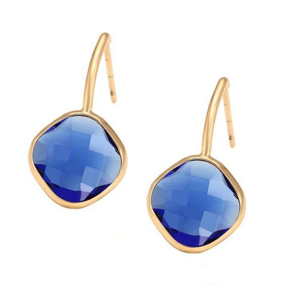 Callel Royal Blue Stone Drop Earrings