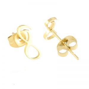 Gold Infinity Stud Earrings