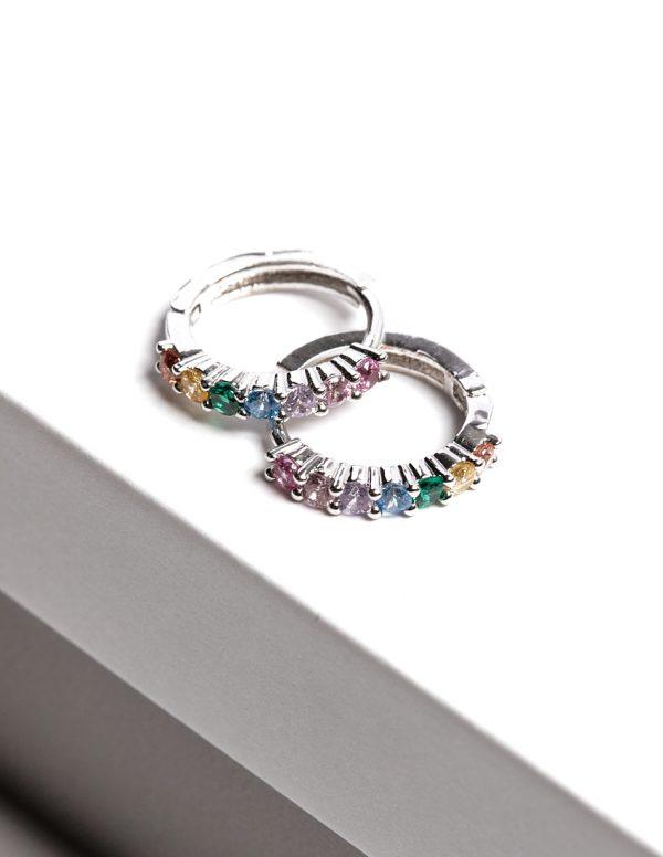 Callel Rainbow Hoop Earrings