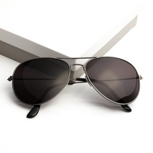 Black Mens Pilot Sunglasses
