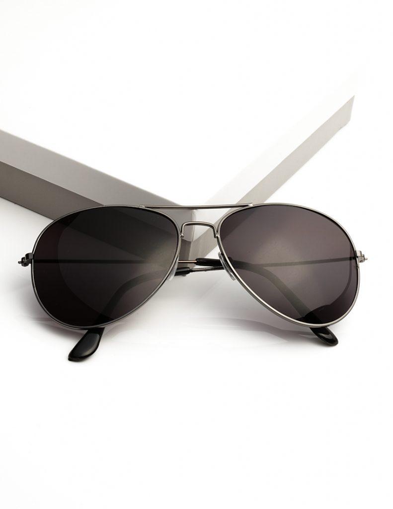 Callel Black Mens Pilot Sunglasses