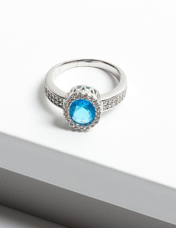 Callel Aquamarine Cubic Zirconia Ring