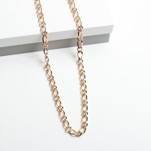 18K Gold Figro Chain Necklace 24 Inch