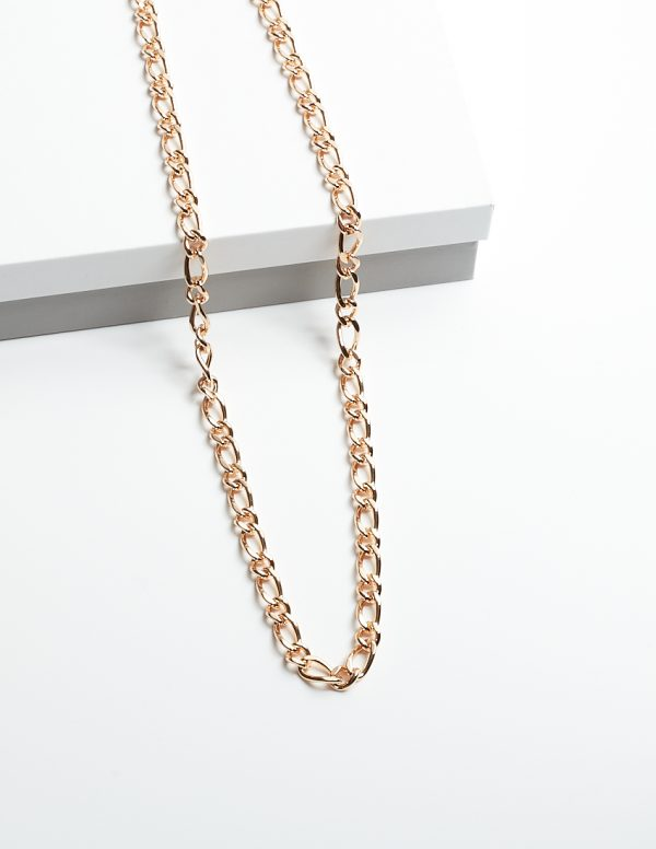Callel 18K Gold Figro Chain Necklace 24 Inch