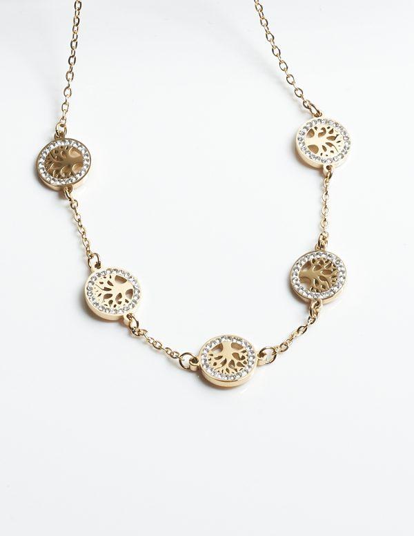 Callel Cubic Zirconia Tree of Life Design Necklace