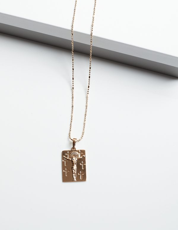 Callel 18K Gold Jesus Piece Necklace