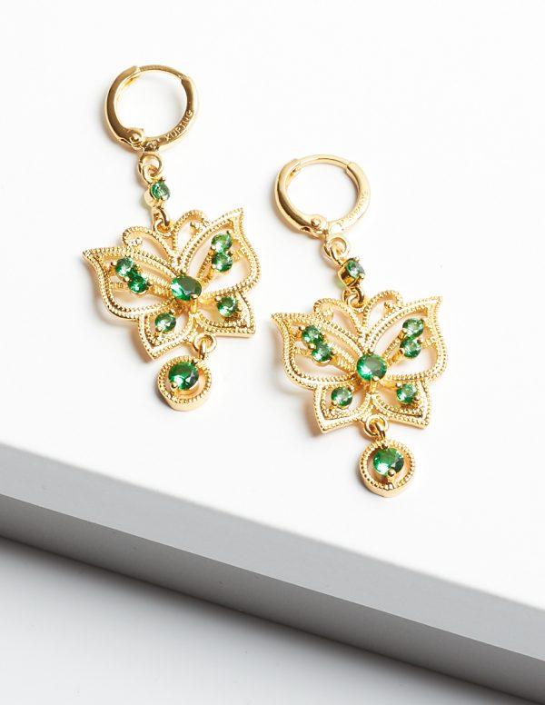 Callel 24K Gold Butterfly Drop Dangle Earrings