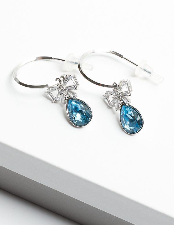 Callel Half Hoop Drop Earrings Embellished With Crystal From Swarovski