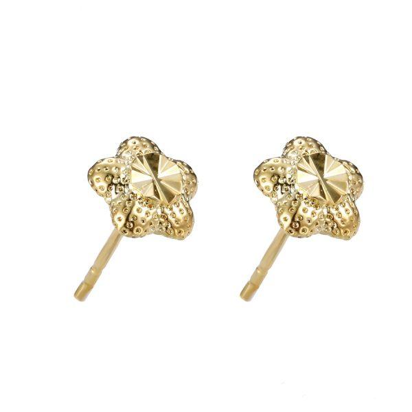 Callel 24K Gold Flower Stud Earrings