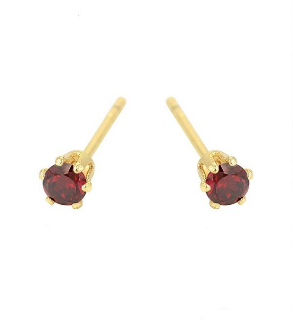 Callel Garnet Cubic Zirconia Stud Earrings