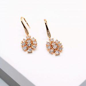 18K Cubic Zirconia Hook Earrings