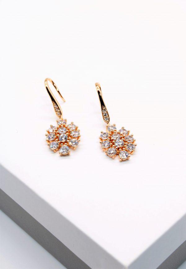 Callel 18K Cubic Zirconia Hook Earrings
