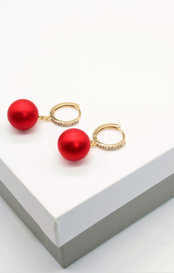 Callel 14K Gold Elegant Huggie Drop Earrings
