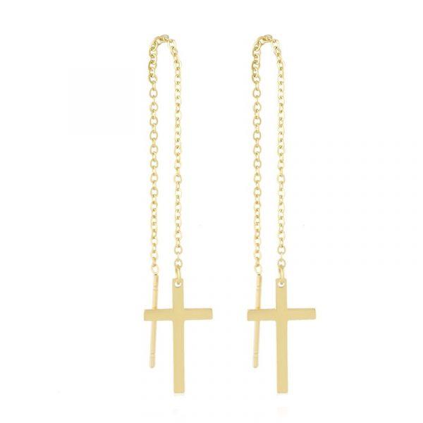 Callel Cross Threader Earrings