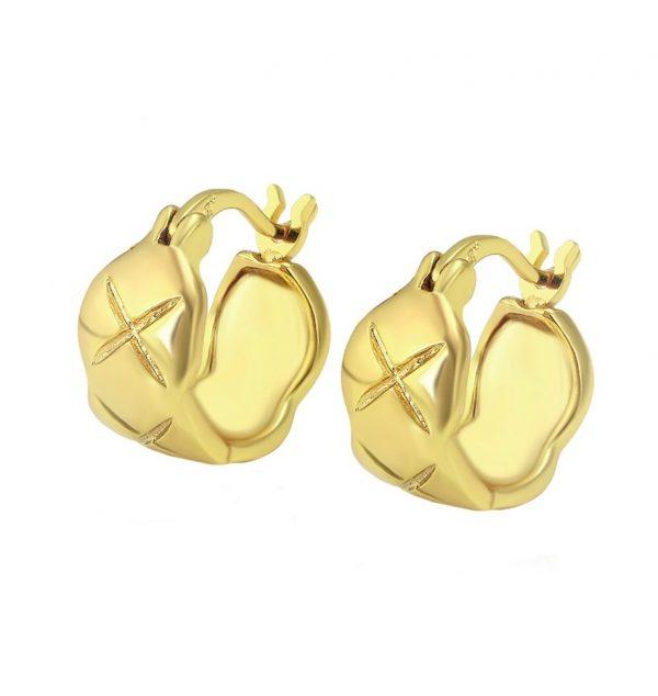 Callel Diamond Cut Creole Earrings