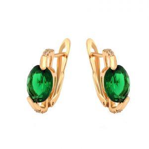 Emerald Green Latch Back Earrings