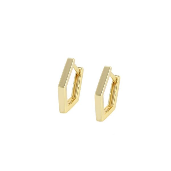 Callel Irregular Shape Hoop Earrings In Gold