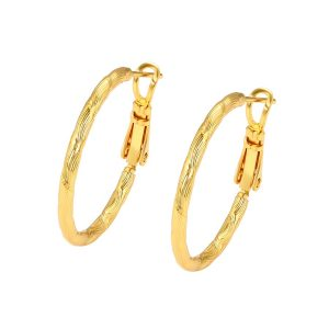 24K Gold Hoop Earrings