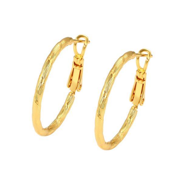 Callel 24K Gold Hoop Earrings