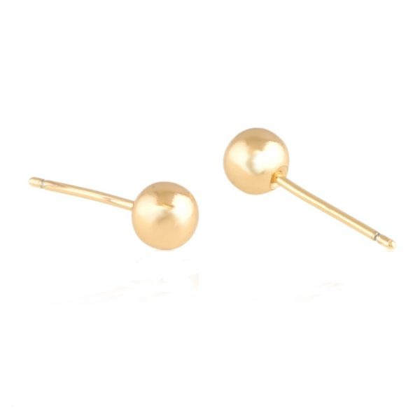 Callel Yellow Gold Stud Earrings