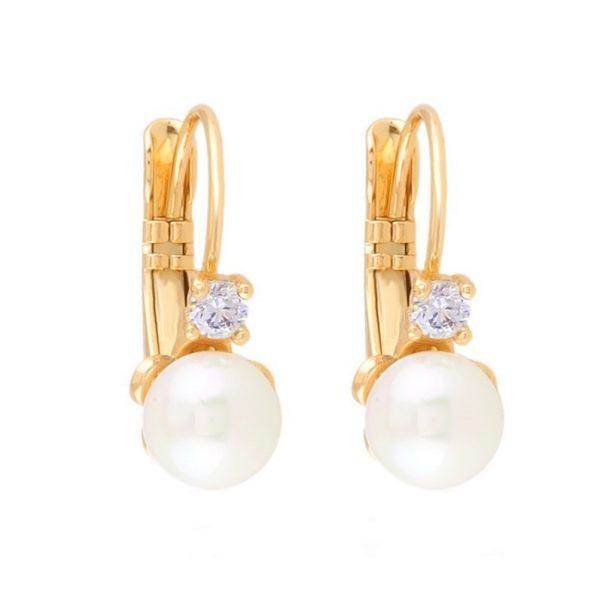 Callel Cubic Zirconia Pearl Drop Earrings