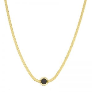 Blueberry Black Enamel Celebrity Necklace
