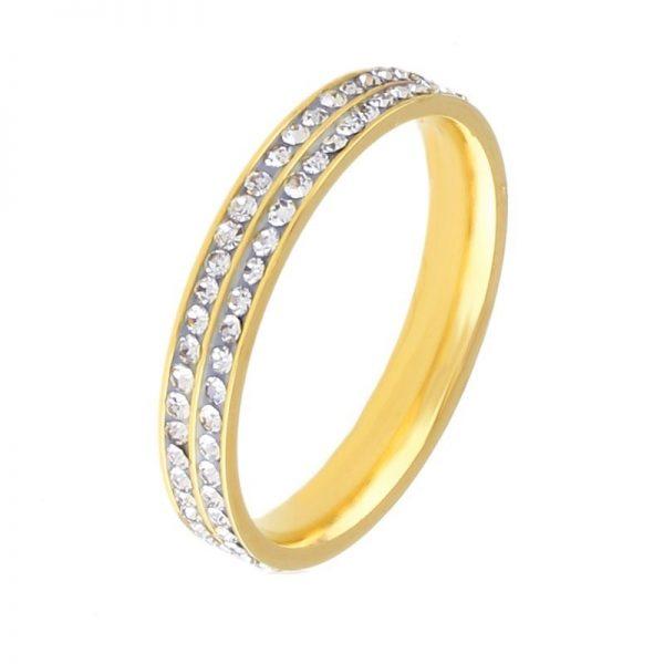 Callel Cubic Zirconia Bond Womens Ring