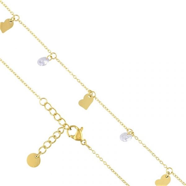 Callel Cubic Zirconia & Heart Charm Bracelet