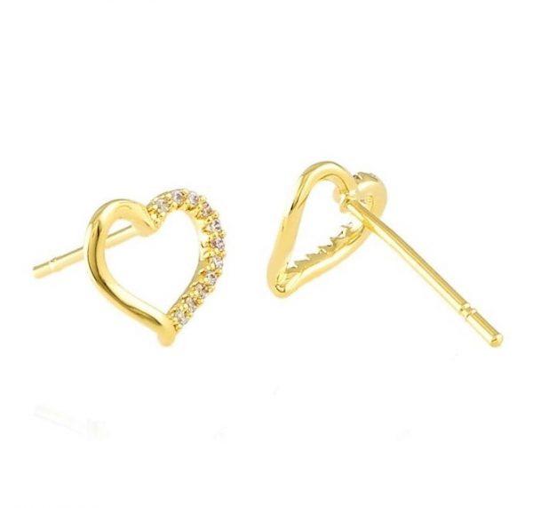 Callel Open Heart Stud Earrings