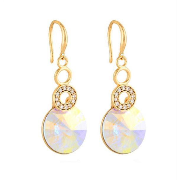 Callel Hook Drop Earrings with Swarovski Crystals