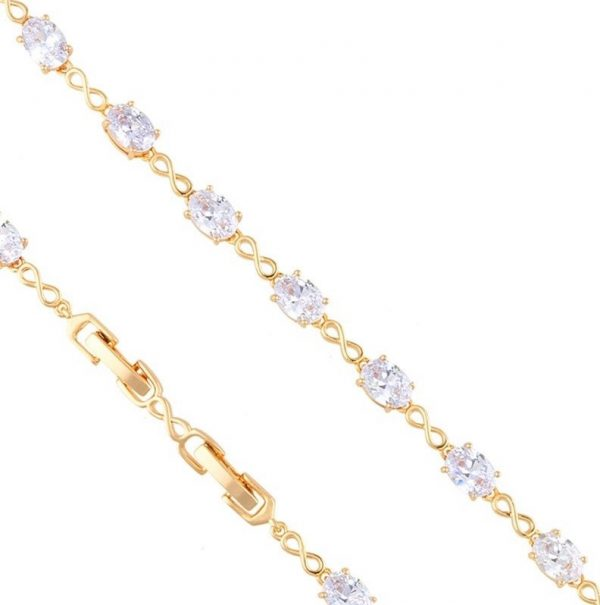 Callel Cubic Zirconia & Infinity Bracelet