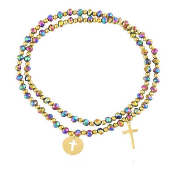 Callel Multi-Colured Beaded Bracelet