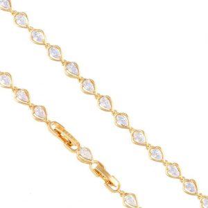 Cubic Zirconia Teardrop Bracelet