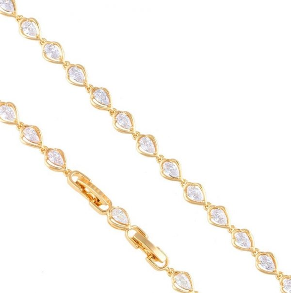 Callel Cubic Zirconia Teardrop Bracelet