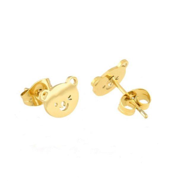 Callel Teddy Bear Stud Earrings