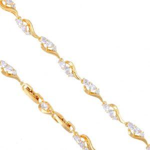 Cubic Zirconia Swirl Bracelet