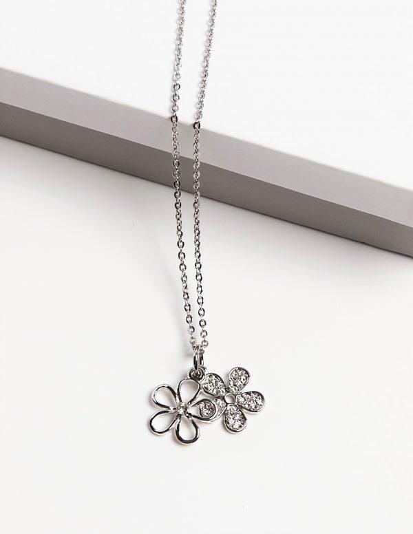Callel Daisy Flower Pendant Necklace