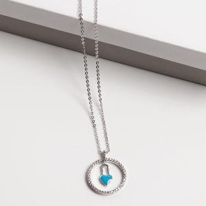 Blue Heart Pendant Necklace
