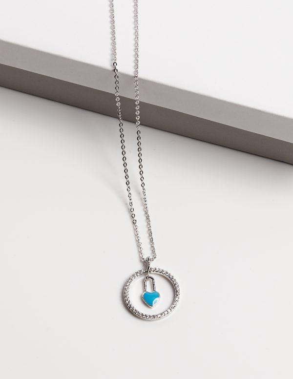 Callel Blue Heart Pendant Necklace